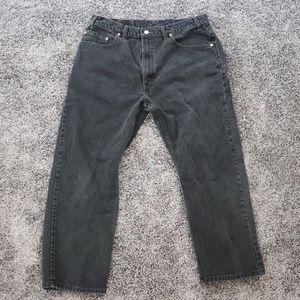 Levis 505 Regular Fit Black Jeans size 38 x 30